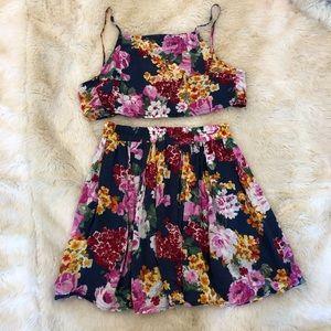 Brandy Melville 2-piece floral set